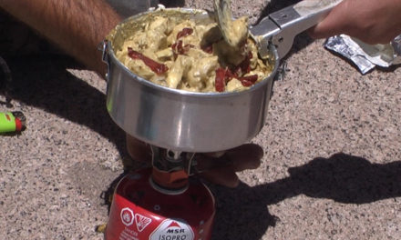 Camping on a Budget with Pesto Tortellini
