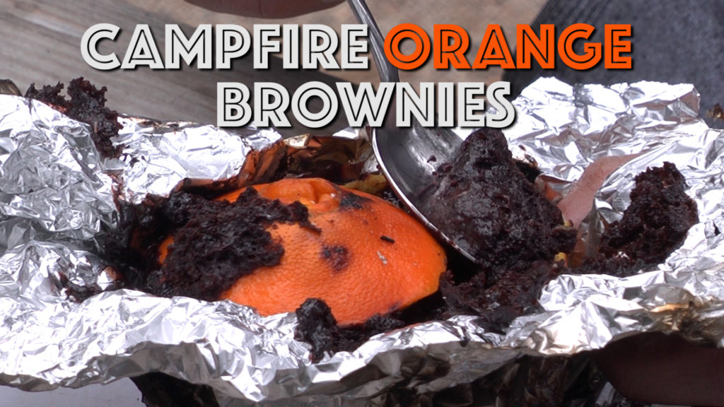 Recipe for a delicious dessert cooked over a camp fire