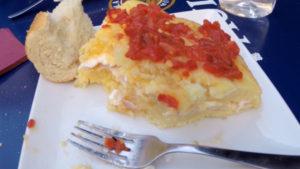 Photo of a Spanish egg Tortilla