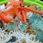 Asian Peanut Noodles & Pickled Slaw