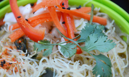 Asian Peanut Noodles & Pickled Slaw