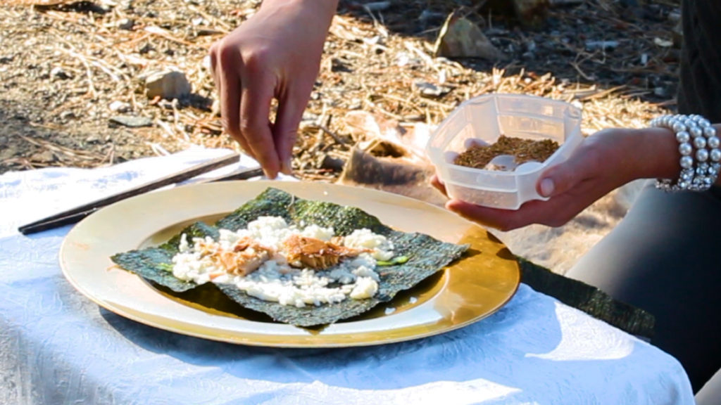 Backcountry outdoor sushi