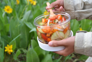 Hiking snack, recipe for healthy salad