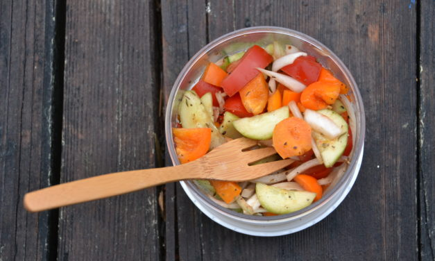 Healthy Hiking Veggie Salad