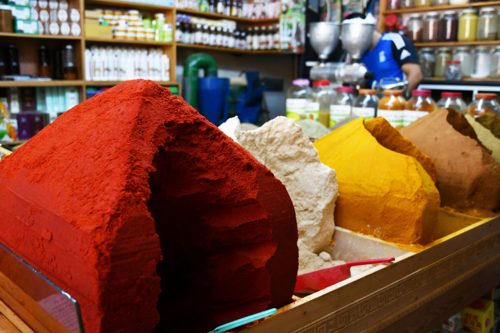 Spices from a Tangier spice market