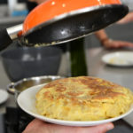 Recipe for tortilla, a popular spanish egg dish